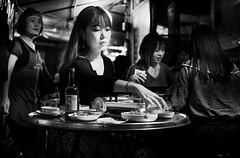 DSCF5007 (yann CM B) Tags: seoul2018 nightlife southkorea streetphotography blackandwhite blackwhitepassionaward blackdiamond woman women fixlens fuji fujixt3 asia food restaurant