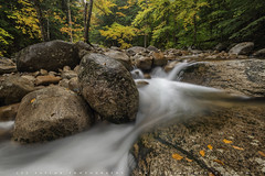 Flowing Sabbaday Brook In Autumn (lestaylorphoto) Tags: america usa newengland newhampshire whitemountains autumn fall foliage colors travel nikon d610 leslietaylor lestaylorphoto ニューイングランド ニューハンプシャー州 ホワイト マウンテンズ ニコン