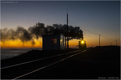 Last Light On Fuxin (channel packet) Tags: china steam train railway railroad fuxin coal mine sy locomotive sunset smoke transport davidhill