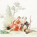 Hercules and Omphale by Johan Teyler (1648-1709). Original from the Rijks Museum. Digitally enhanced by rawpixel.