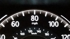 Speedometer (Adventurer Dustin Holmes) Tags: 2018 car vehicle automotive automobile speedometer mph milesperhour honda accord dash dashboard gauge gauges speed 80 100 60 120 40 blackbackground macro kmh 160 140