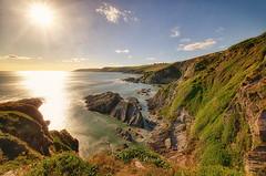 Butcher's Cove (Frosty__Seafire) Tags: devon beach sunset coast cliffs south west path butchers cove england coastal