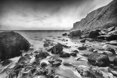 Coastal weather. (Karl Horsman) Tags: leefilters longexposure canon 7d eastsussex eastbourne sevensisters beaches tide beachyhead rocks cliffs atmosphere atmospheric stormyweather sigma 1020mm littlestopper
