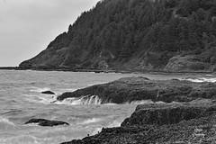 DSC_2617 ~ Devil's Churn OR B&W (stephanie.ovdiyenko) Tags: capeperpetua oregon oregoncoast pacificcoast coast pacificocean rockycoast shoreline coastline rocks