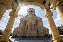 Holy Trinity Cathedral of Tbilisi, Georgia (Maria_Globetrotter) Tags: transcaucasia armenia georgia summer trip dscf0820lr