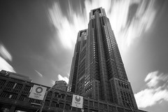 Tokyo Metropolitan Goverment Building (Bunaro) Tags: tokyo metropolitan goverment building japan asia twin tower olympics 2020 observatory view sightseeing architecture intimidating longexposure monochrome gliding clouds canon m50
