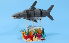 Swimming Shark (JK Brickworks) Tags: lego forma shark swimming kineticsculpture