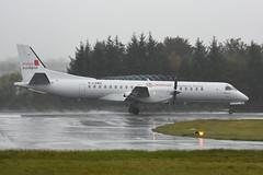 G-LGNS Saab 2000 EGPH 13-10-18 (MarkP51) Tags: glgns saab 2000 loganair lm log poppyscotland specialmarkings edinburgh airport edi egph scotland aviation airliner aircraft airplane plane image markp51 nikon d7200 nikon70200f4vr rain spray