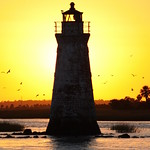 Cockspur Island Lighthouse near Sunset thumbnail