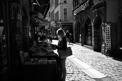 Browsing (Kahn's Hot Dogs) Tags: 10thanniversarytrip france fujixpro2 lyon streetphotography
