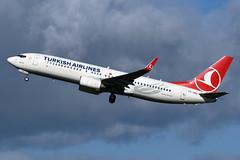 TC-JHU Turkish Airlines Boeing 737-8F2(WL) at Edinburgh on 22 September 2018 (Zone 49 Photography) Tags: aircraft airliner airplane aeroplane september 2018 egph edi edinburgh turnhouse airport nje netjets europe cessna 560xl citation excel tcy tk turkish airlines turkishairlines boeing 737 boeing737 800 8f2 wl tcjhu