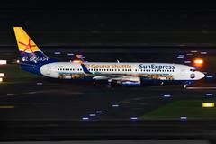 D-ASXP SunExpress Germany Boeing 737-8HX (buchroeder.paul) Tags: dasxp sunexpress germany boeing 7378hx dus eddl dusseldorf international airport europe ground night