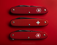 Triple Threat (Fly to Water) Tags: swiss army knife sak red old cross vintage knives professional product photography brütsch rüegger limited edition alox victorinox pocket tool tools multi multitool edc every day carry