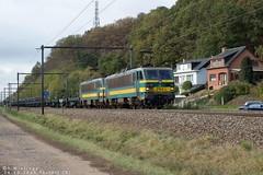 24-10-2018 Testelt (B)  Lineas HLE 2154 +2149 met staalrollen trein van Gent naar Genk (Richard Wielinga) Tags: lineas hle2100 testelt nmbs gent genk belgië cargo treinen treinspotter genkgoederen l35