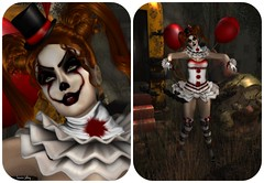 from irrisistible (louannjolbey) Tags: irrisistible evil clown hell halloween costume fancy movie women men sl secondlife second life skin hairs outfit clothes eyes shoes dead maitreya belleza slink hourglass tonic aesthetic signature omega appliers mesh sexy autumn horror creepy balloon make up gothic pennywise