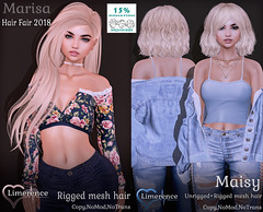 {Limerence} Marisa&Maisy hair special for Hair Fair 2018 ({Limerence}) Tags: kirusiklimerence kirusik limerence rigged nice head mesh doll hair blogger follow post blog fashion sl life second event girl beautiful special exclusive hairs sensuality lovely sexually roleplay gor female woman catwa hairstail sweet secondlife wavy long averagelength medium short hairstyle marisamaisyhairspecialforhairfair2018 marisa maisy hairfair2018 hairfair 2018