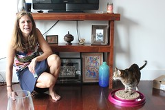 Andrea and the kitty (olive witch) Tags: 2015 aug15 august cat day fem indoors nyc