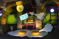 Art Installation, Gloucester Road Station (London Less Travelled) Tags: uk unitedkingdom britain england london westlondon tube underground station gloucesterroad kensington platform art installation egg eggs city urban