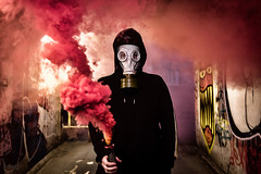 Smoke Grenade, Bristol, UK (KSAG Photography) Tags: smokegrenade smoke urban urbandecay city nikon bristol uk unitedkingdom england man person portrait europe britain may 2018