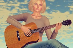 Playing my favorite song (Rose Sternberg) Tags: song music guitarra guitar reveobscura rebel hope second life vanity hair reve september fall