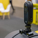 Nahaufnahme Seitenansicht der 360 Grad Kamera Insta360 One an der Photokina Köln