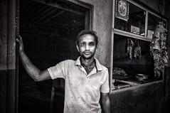The Butcher, Negombo, Sri Lanka (marksedgwick55) Tags: contrast gritty life tough environmentalportrait work hard monochrome travel butcher portrait market negombo srilanka