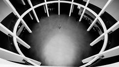 Pinakothek der Moderne (Sean Batten) Tags: munich bavaria germany de blackandwhite bw lines curves city urban nikon d800 1424 museum person
