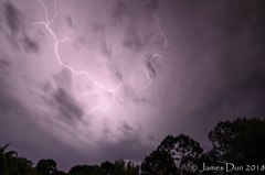 Going Haywire (James Dun) Tags: crawler lightning cloudtocloud thunderstorm weather storm season brisbane queensland australia 2018 nikon d7000 spring rain severe haywire clouds thunder