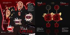 :Le gene: @ Witch Gacha for GachaLand Event (rcovar | :Le gène: store) Tags: gachaland eventt open october halloween gacha horror spooky story dream lipstick ears lg rose blood mary devil vampire