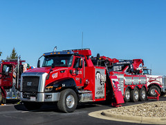 """Eitel's CAT Towing & Recovery Truck - """"War Horse"""" (J Wells S) Tags: cattowingandrecoverytruck caterpillar eitelscattowingandrecoverytruck warhorse 85toncrane wrecker towtruck showtruck bigrig trao towingandrecoveryassociationofohio midwestregionaltowshow greatwolflodge mason cincinnati ohio"""