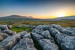 Ribblehead at Sunset (Geoff Dickinson) Tags: whernside limestonepavement sunset ingleborough ribbleheadviaduct ribblehead