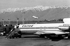 United and Air West (arbyreed) Tags: arbyreed history old airport saltlakeairport unitedairlines72722 n7033u dc9 hughesairwest 1972 film 35mmfilm scanned monochrome bw blackandwhite