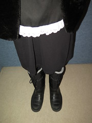 Boots (Warm Clothes Fetish) Tags: very warm boots fur hot rubber winter waitress maid girl slave sweat