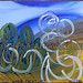 """""""Wind Creatures"""" by Keepin, acrylic, $100.00"""