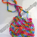 """""""Colorful Casual Purse"""" by Nadia A, crochet, $15.00"""