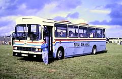 Slide 122-67 (Steve Guess) Tags: epsom downs racecourse surrey england gb uk bus raf royal air force leyland leopard wadham stringer vanguard 50ao00 lcw724w 50ac00