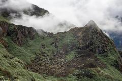 Mist rises near Thrika camp - Gasa District - Snowman Trek - Bhutan (PascalBo) Tags: nikon d500 asie asia southasia asiedusud drukyul drukgyalkhap bhutan bhoutan འབྲུག་ཡུལ། འབྲུག་རྒྱལ་ཁབ་ snowman trek trekking hike hiking lunana gasa himalaya himalayas jigmedorjinationalpark vegetation mountain montagne sky ciel fog mist brume brouillard clouds nuages outdoor outdoors pascalboegli