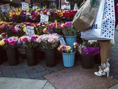 (Pierre LaScott) Tags: 0066580 shoes flowers downtowncrossing street boston