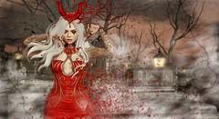 Blood Descent (Duchess Flux) Tags: thearcade fameshedgo collabor88 posefair enfantterrible genus mina zenith white~widow hotdog halloween vampire secondlife sl