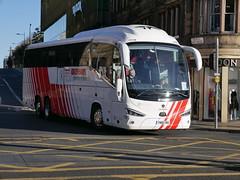 City Circle Coaches of Hayes Scania K410EB6 Irizar i6S YN18SWU 156, in Globus Travel livery, at South St David Street, Edinburgh, on 28 September 2018. (Robin Dickson 1) Tags: citycircle yn18sww scaniak410eb6 busesedinburgh irizari6s globustours