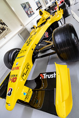 Donington F1 Museum (UK) (furyksx) Tags: donington f1 museum race track vintage wheel vents bikes bnw williams dof bridgestone goodyear mclaren lola justin wilson force india mansell damon hill mercedes canon 77d cars fast 1018 50mm stm f18 jordan yellow