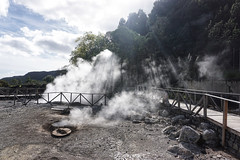 Cooking in volcanic heat of Furnas, Sao Miguel (beyondhue) Tags: sao miguel azores portugal furnas cook volcanic steam vent heat hot spring beyondhue travel boardwalk ground pot