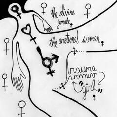 "Sexlife pt. 3 ""Three Layer Woman"" (Daniel Ari Friedman) Tags: danielarifriedman daniel friedman drawing ink pen paper cartoon philosophy art science draw freehand font letters words cursive writing"