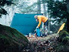 Camping at the Shiragane Campground in Biei (Hokkaido, Japan) (Robert Thomson) Tags: hokkaido japan hiking hokkaidohiking hokkaidowilds furano mtfurano camping foggyweather longweekend
