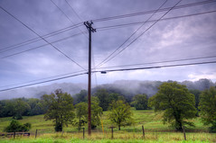 DMT_20180923070828 (Felicia Foto) Tags: wires powerlines mtemc woodenpole collegegrovetennessee collegegrove williamsoncountytennessee middletennessee raining foggy daytime outdoors farm powerpole farmland trees grass fence blue green rural ruralmiddletennessee usa unitedstates field 3xp hdr nikon nikond600 d600 photomatix photoshopcc2019 highdynamicrange arnoroad geotagged clouds fog sky gate communicationlines phonelines road pasture communication middletennesseeelectricmembershipcooperative electriccooperative telephonelines telephonepole