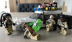 Slimed again (KaijuWorld) Tags: lego moc custom ghostbusters set mod ecto1 80s cadillac ambulance