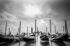 Arsenale - Venice (ESTjustPHOTO - Elias S Tilavgi) Tags: venice long exposure travel photography black white bw gondolas arsenale holidays