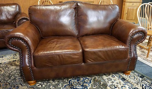 Lacross brown leather loveseat ($280)