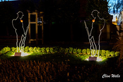 Tommy`s in the Garden (wells117) Tags: greyfriars towergardens armistice atease kingslynn lifghts lightshow norfolk poppys rememberance rifles soldiers tommys ww1