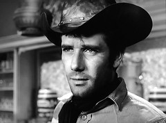 "Robert Fuller as Jess Harper in ""Laramie."" (stalnakerjack) Tags: sixties 1961 rimrock hollywood actors television tv westerns robertfuller laramie"